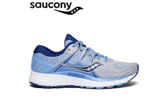 Saucony Women's Omni ISO Running Runners Sneakers Shoes - Silver/Blue/Navy