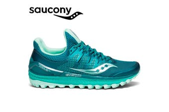 Saucony Women's XODUS ISO 3 Sneakers Runners Running Shoes - Green/Aqua