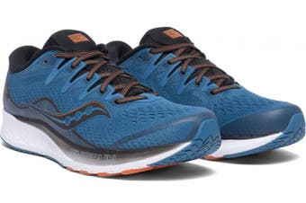 Saucony Men's RIDE ISO 2 Sneakers Runners Running Shoes - Blue/Black [US 11]
