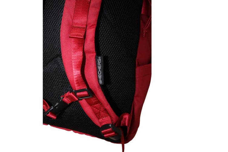 Skechers Santa Monica 2 Section Backpack w Laptop Pocket Travel Bag - Red