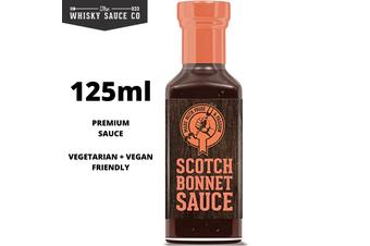 125ml Premium Gourmet Scotch Bonnet Hot Whisky Sauce Salsa Whiskey Chilli Steak