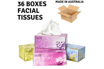36 Boxes Polar SERENE Facial Tissues 2-Ply Deluxe Extra Soft Bulk 180 Sheets