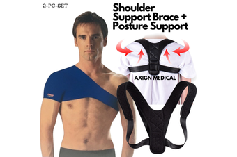 Shoulder Support Brace + Medical Posture Back Support Brace Corrector Strap