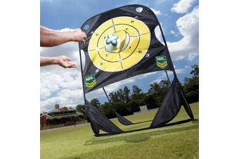 NRL Pop Up Passing Target Rugby Official Fold Away Practice Set w Carry Bag