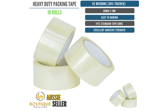 10 Rolls Packing Heavy Duty Packing Packaging Tape EXTRA STRONG 52 Microns 48mm