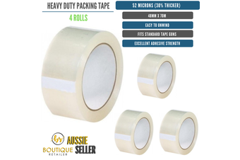 4 Rolls Packing Heavy Duty Packing Packaging Tape EXTRA STRONG 52 Microns 48mm