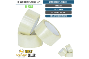 60 Rolls Packing Heavy Duty Packing Packaging Tape EXTRA STRONG 52 Microns 48mm