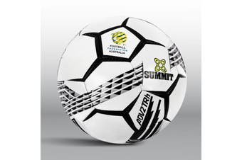 SUMMIT ADV2T Soccer Ball Team Training Kit Outdoor Football Game - White - Size 5