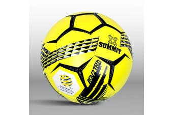SUMMIT ADV2T Soccer Ball Team Training Kit Outdoor Football Game - Yellow - Size 4