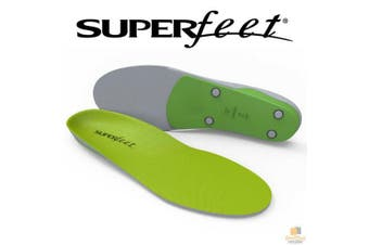 SUPERFEET Insoles Inserts Orthotics Arch Support Cushion GREEN Support New