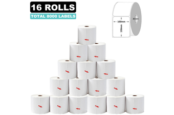 """16 Rolls Direct Thermal Labels 4""""x 6"""" Shipping Sticker Label Roll Address Postage BULK"""