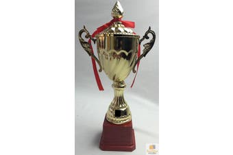 TROPHY CUP Sport Award Football School Table Tennis Gold Trophies 3 Sizes New