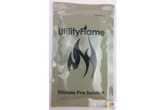 UTILITY FLAME Ultimate Fire Starting Gel Solution Outdoor Camping Survival BBQ