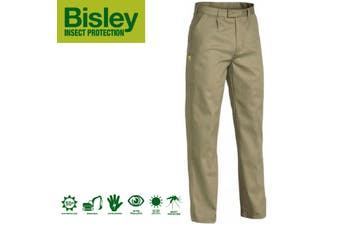 Bisley Men's Insect Protection Drill Work Pants Trousers - Khaki