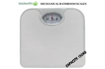 130kg Woolworths Mechanical Bathroom Scales Weight Checker Kilo Kg Kilograms White