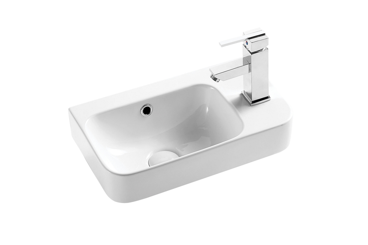 Seima Pacto 260 Wall Basin White with Overflow No Taphole 191137