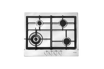 Artusi Cooktop 60cm 4 Burner Gas W/ Flame Failure Stainless Steel AGH65X
