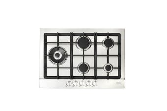 Artusi Cooktop 70cm Gas Hob With Side Wok Flame Failure Stainless Steel AGH70XFFD