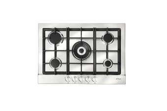 Artusi Cooktop 70cm Gas W/Centre Wok Flame Failure Stainless Steel AGH71XFFD