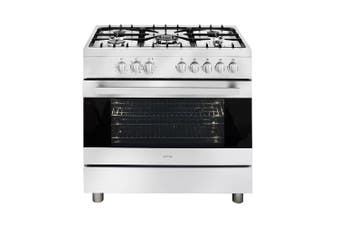 Artusi Oven 90cm Upright Cooker With No Clock Stainless Steel CAFG90X