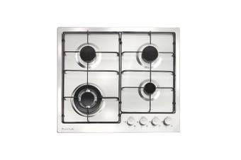 Artusi Cooktop 60cm 4 Burner Gas Stainless Steel CAGH1