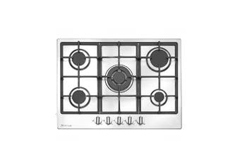 Artusi Cooktop 70cm 5 Burner Gas Hob With Flame Failure Stainless Steel CAGH75X