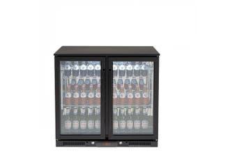 Euro Appliances Beverage Cooler 208L Double Glass Door Black EA900WFBL