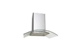 Euro Appliances Rangehood Canopy Curved Glass 70cm Stainless Steel EAGL700S