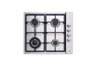 Euro Appliances Cooktop Gas & Wok 60cm Stainless Steel ECT60GX