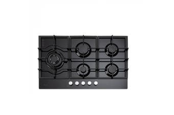 Euro Cooktop (Gas) 900mm Black Glass ECT900GBK