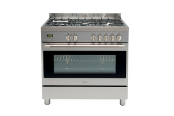 Euro Appliances Freestanding Oven Dual 90cm Stainless Steel EFS900LDX
