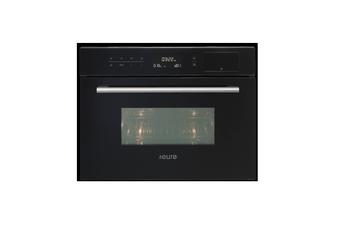 Euro Appliances Oven Steam & Microwave & Grill 45cm Black EO45SMWB