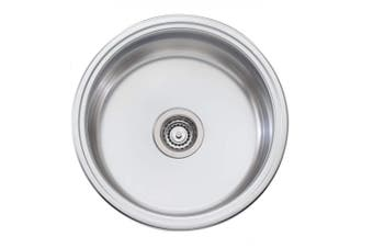 Oliveri Solitaire Sink 490 x 490 Single Bowl Stainless Steel LR510