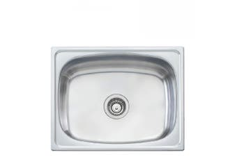 Oliveri Laundry Tub 45 Litre with tap hole and rinse bypass Stainless Steel TI45S