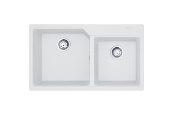 Franke Sink Urban Double Bowl- Polar White - UBG220-86PW