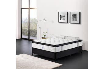 Breeze Mattress Bed 5 Zone Memory Foam Euro Top Pocket Spring Organic Cotton 32cm