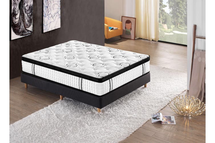 Breeze Luxury Natural Latex Mattress 7 Zone Euro Top Pocket Spring 34cm (Queen)