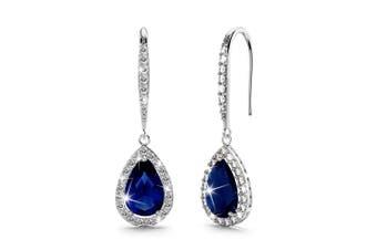 Kate Bloom Earrings Navy Blue