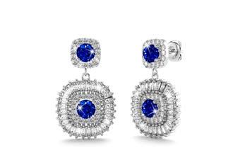 Rosie Bloom Earrings Navy Blue