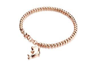 Dolphin Charm Bracelet-Rose Gold