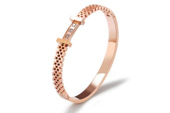 Claire Bangle-Rose Gold/Clear