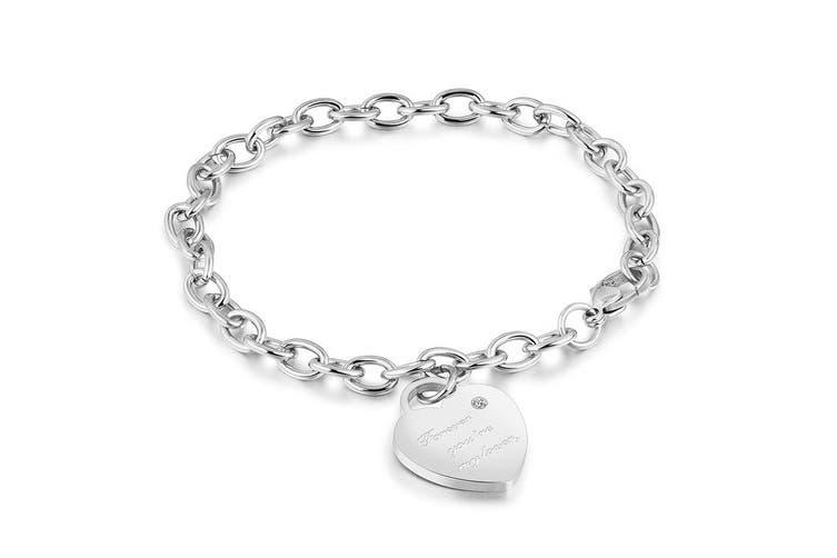 Forever You're My Lover Bracelet-White Gold