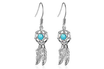 Boho Feather Dangle Earrings