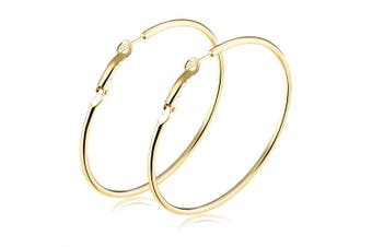 Farah Large Hoop Earrings-Gold