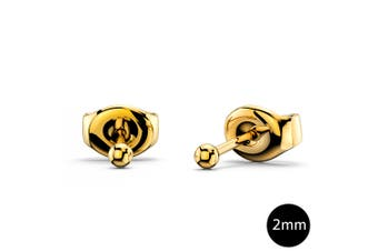 Ball Stud Earrings 2mm|Yellow Gold