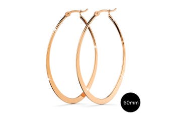 Sexy Oval Hoop Earrings 60mm|Rose Gold