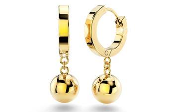 Brilliant Ball Huggies Earrings/Gold