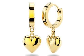 Ruby Love Huggies Earrings/Gold