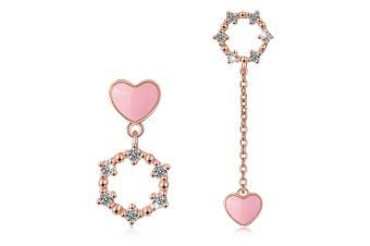 Circle of My Heart Asymmetric Earrings