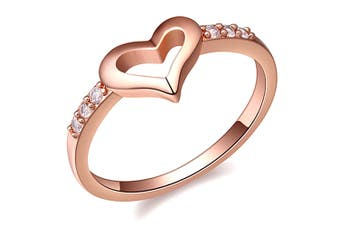 Sheer Love Ring-Rose Gold/Clear